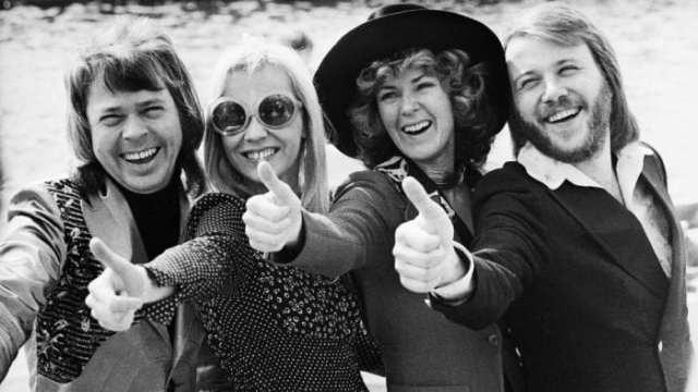 Da esq. para dir. Bjorn, Agnetha, Anni-Frid (Frida) e Benny. Juntos para sempre na memória da música mundial (CNN)