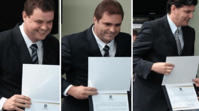 Vereadores Fábio, Robinho e Célio (Jaime Batista)
