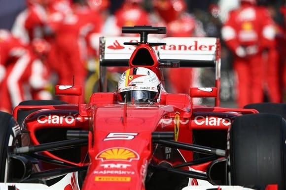 Vettel fez boa pilotagem, e o equipamento equilibrado e competitivo da Ferrari o ajudou a faturar o terceiro posto (Getty Images)