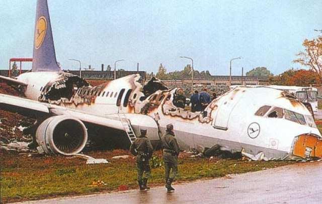 A320 da própria Lufthansa após o acidente no aeroporto de Varsóvia, em 1993 (baaa-acro.com)
