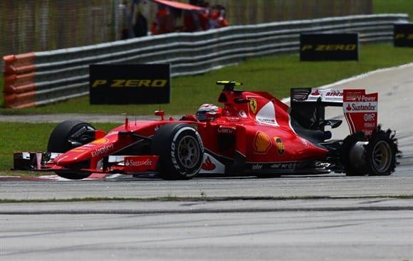 Raikkonen teve um bom desempenho na prova. Apenas foi traído por um pneu furado e contratempos diante de Rosberg (Getty Images)