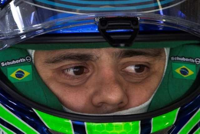 Massa, o sortudo do dia. Largou mal, em 15º, correu apagado e acabou feliz, com um inesperado quarto lugar (AP)