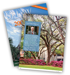 Fall 2012 UF LAW Magazine Quotes Jack Hackett | Farr Law | Serving Southwest Florida (image)