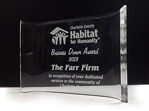 Farr Law Firm Honored by Charlotte County Habitat for Humanity | Serving Southwest Florida (image)