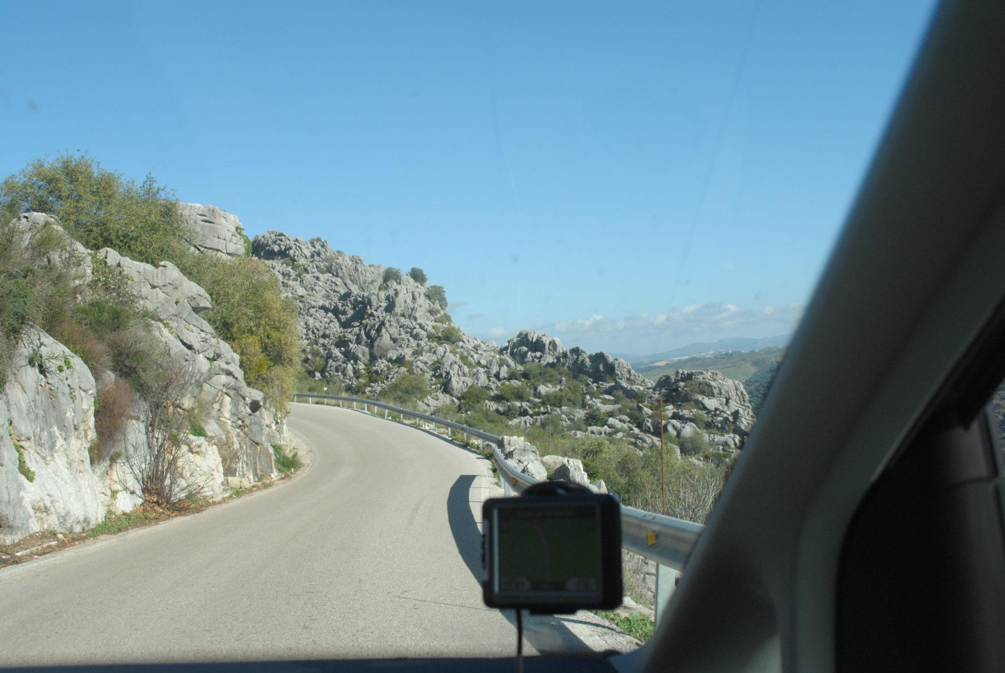 Estrada alternativa entre Vejer e Ronda