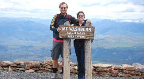 Topo do Mt. Washburn