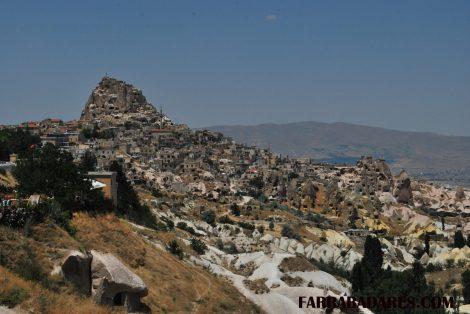 Castelo de Uchisar e o vale das pombas