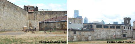 Eastern State Penitentiary - um dos gramados para o banho de sol e prática esportiva