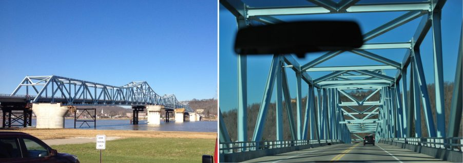 Ponte que liga as cidades de Madison e Milton e portanto os estados de Indiana e Kentucky