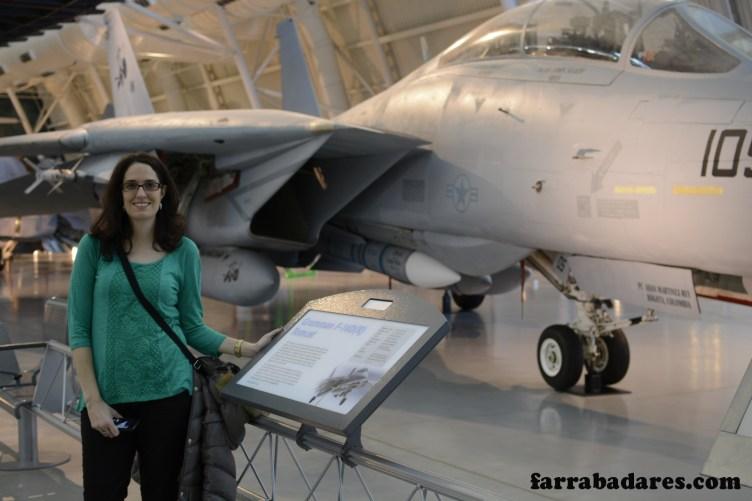 O avião do Tom Cruise em Top Gun, infelizmente ele não estava por lá - Air and Space Museum em Chantilly