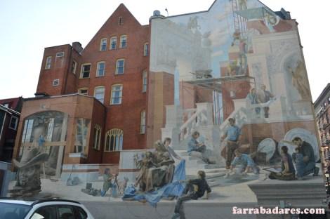 Philadelphia mural - Building the City