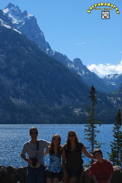 Grand Teton National Park - Eu, meu cunhado e meus sobrinhos