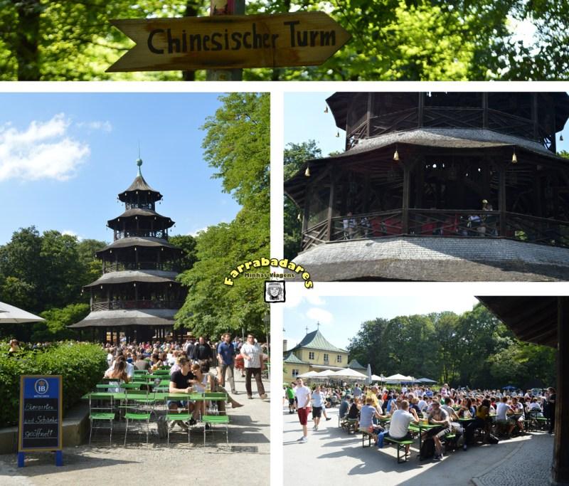 Bier Garten Chines Tower no English Garden - Munique