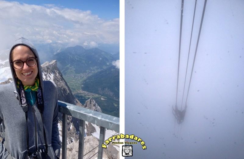 No topo do Zugsptize e a descida também nas nuvens!!