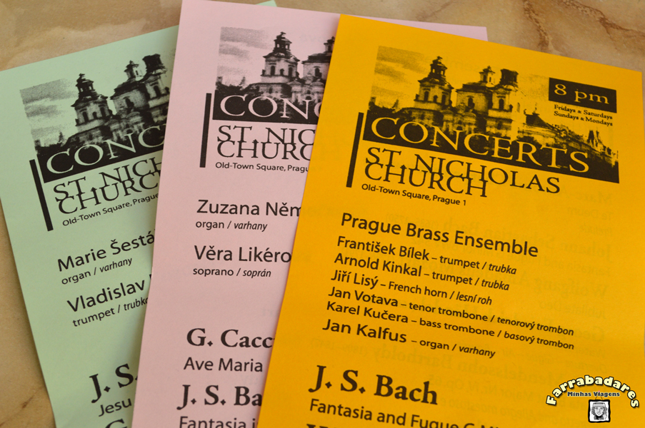 Praga - Concertos de música clássica na Catedral de São Nicolau na Praça da Cidade Velha