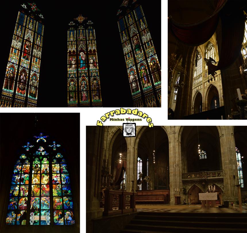 Castelo de Praga - interior da Catedral de São Vito