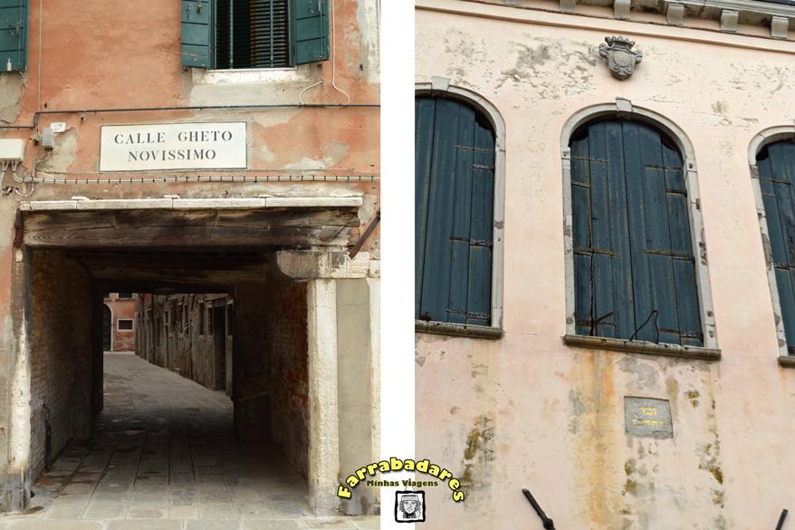 Cannareggio - região do Gueto de Veneza, observe a isncrição em hebraico embaixo da janela