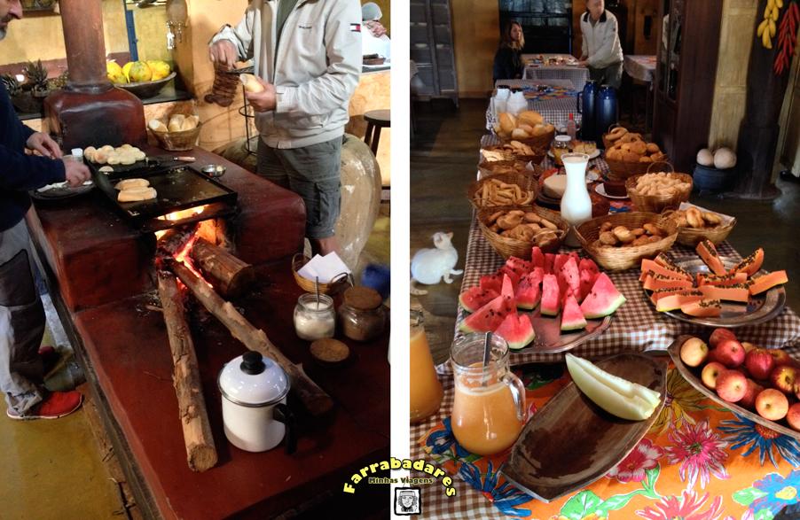 Café da manhã na Pousada Fazendinha da Canastra