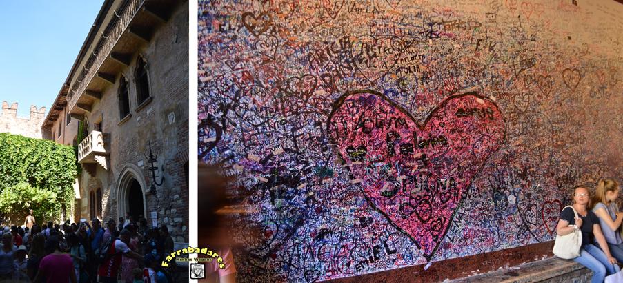 Verona - casa de Julieta e a famosa sacada