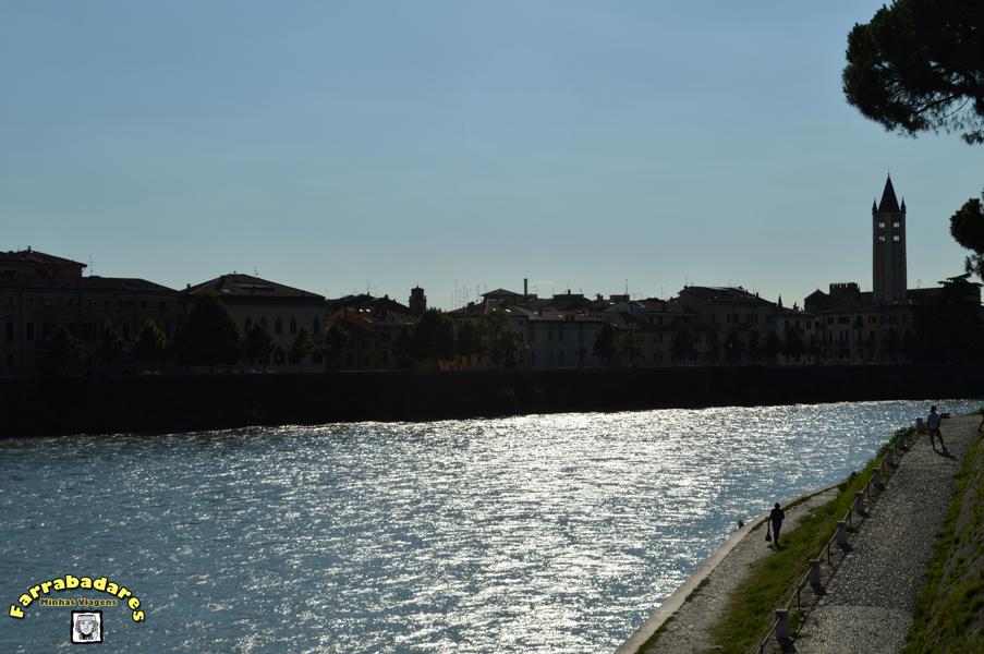 Verona - fim de tarde no Rio Adige