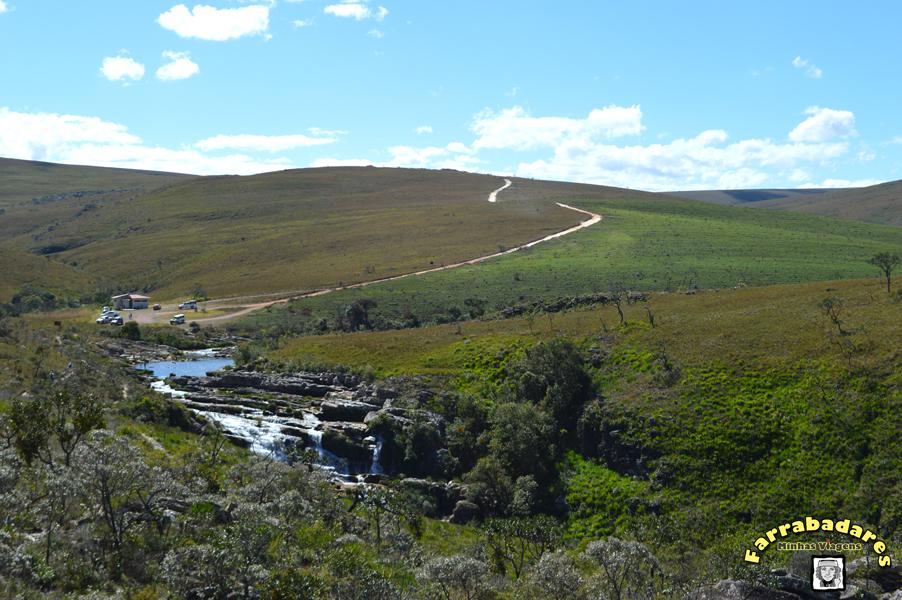 Serra da Canastra - Cachoeira Casca D'Anta, parte alta - a estrada de onde viemos