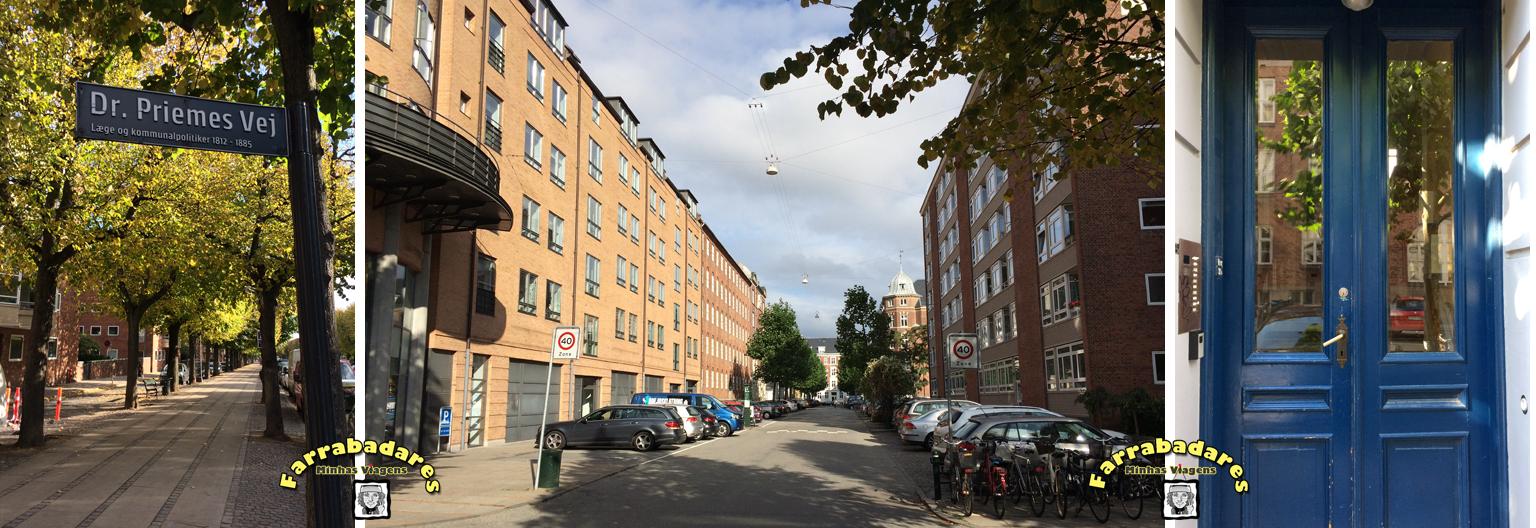 Dinamarca - nossa rua em Frederiksberg