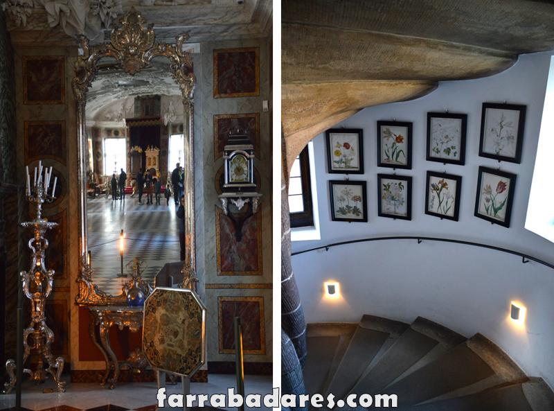 Castelo Rosenborg - foto no espelho e escadaria