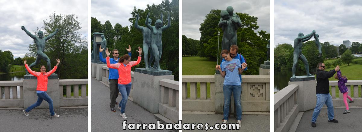 Oslo - Vigeland Parque - esculturas da ponte