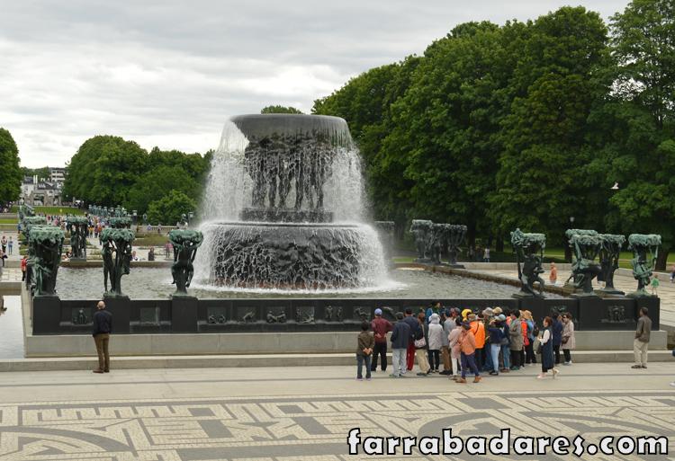 Oslo - Vigeland Parque - a fonte
