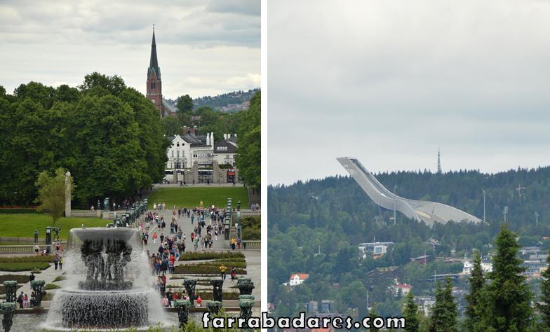 Oslo - Vigeland Parque e a pista de ski de Holmenkollen