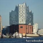 O moderno edifício da Elbe Filarmônica em Hamburgo