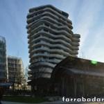 Um exemplo de uma construção moderna no novo bairro Hafencity em Hamburgo.