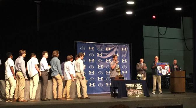 Team Presented With State Title Ring
