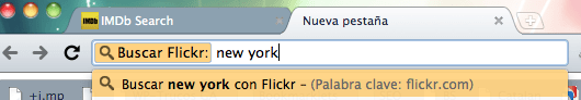 Chrome: Cerca a flickr