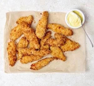 crispy baked chicken goujons