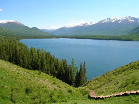 The World's Largest National Park is at Kanas Lake in Xinjiang, China