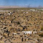 A bird's eye view of Kashgar's Old City in Xinjiang, China