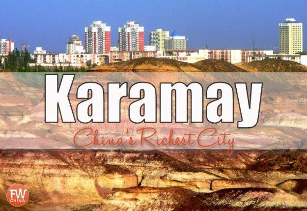 Karamay, Xinjiang - one of China's richest cities per capita
