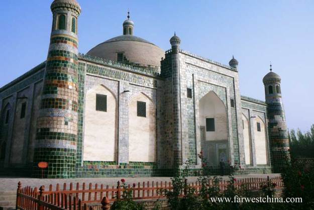 A view of Kashgar's Apak Khoja mausoleum