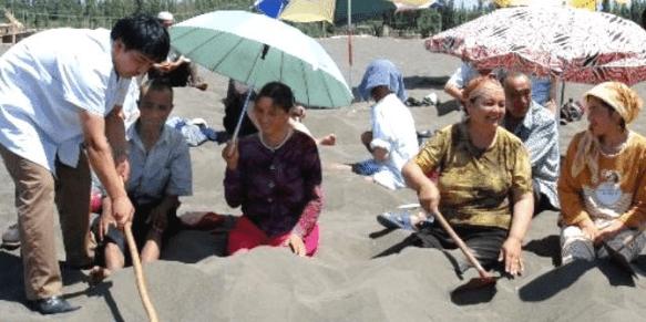 Sand Therapy in Turpan, Xinjiang