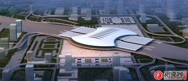 The new Urumqi high-speed railway station in Xinjiang