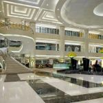 Lobby of the Urumqi Sheraton Hotel in Xinjiang, China