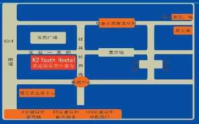 Map to the Tashkorgan K2 Youth Hostel
