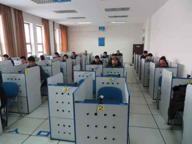 The testing area for the China driver's license