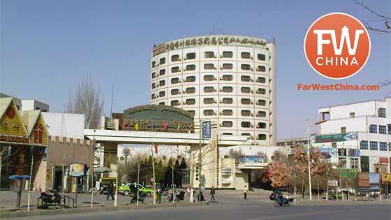 A view of Kashgar's Chini Bagh Hotel in Xinjiang, home of the old British Consulate