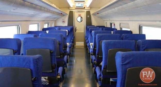 Xinjiang's High Speed Train first class cars
