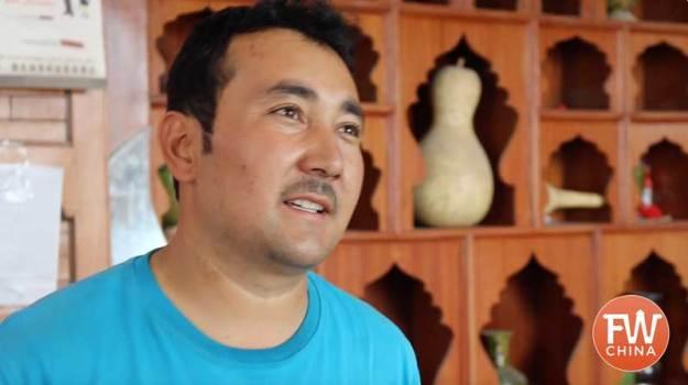 Uyghur Knife maker Mehmet in Yengisar