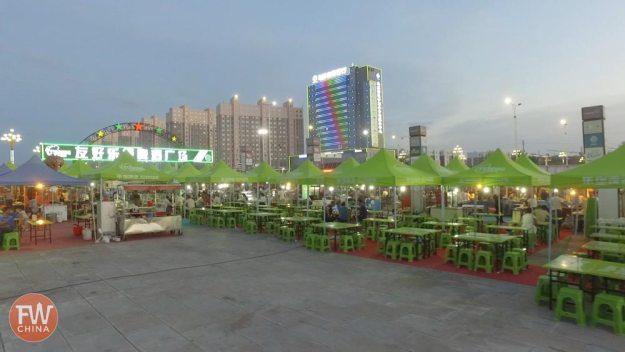 The Wusu Night Market in Xinjiang, China