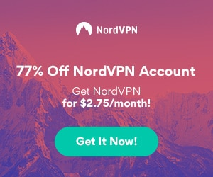 Get 77% off of NordVPN, special pricing for 3 years!