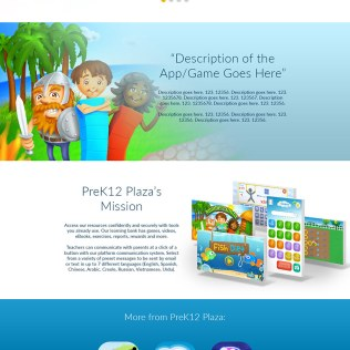 Single page website for Numberlandia mobile game